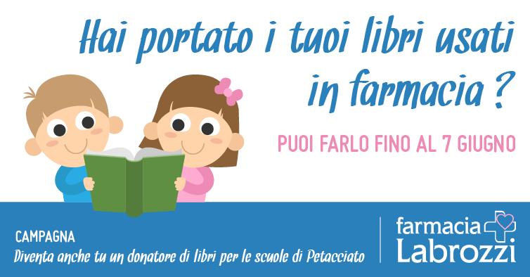 Diventa anche tu un donatore di libri dal 30 maggio al 07 giugno